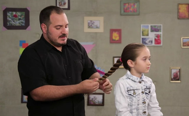 dads and daughters hair class
