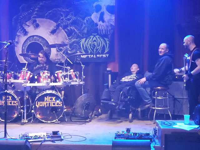 dad takes son with cerebal palsy to metal concerts