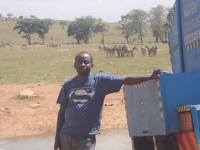 Patrick Kilonzo Mwalua water trucks for animals