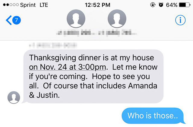 grandma invites stranger to thanksgiving